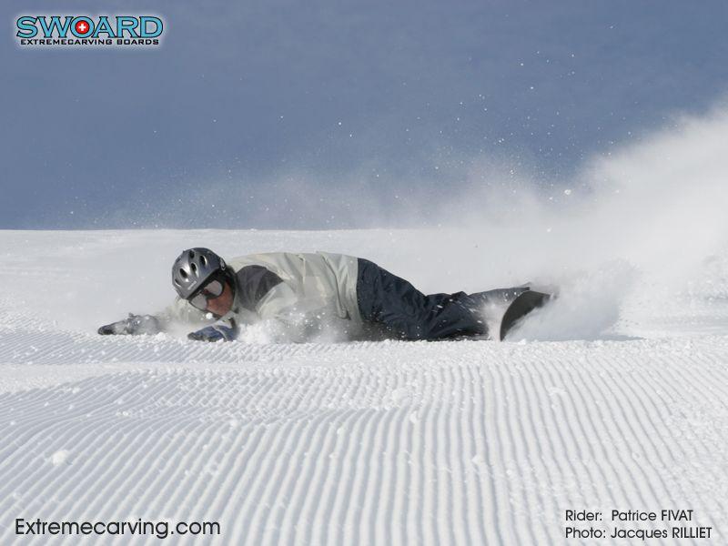 Monoski snowboard cross